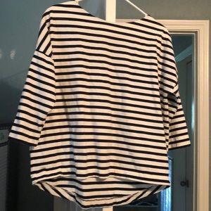 J. Crew  Oversized striped T-shirt